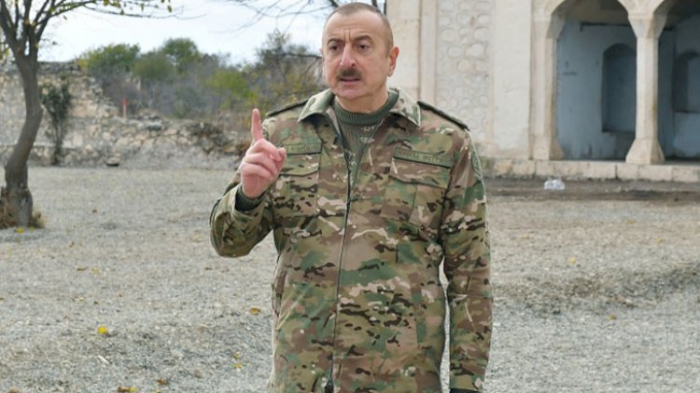 """Azərbaycan lideri:    """"Müharibə zamanı saxlanılmış bütün şəxslər qaytarılıb"""""""