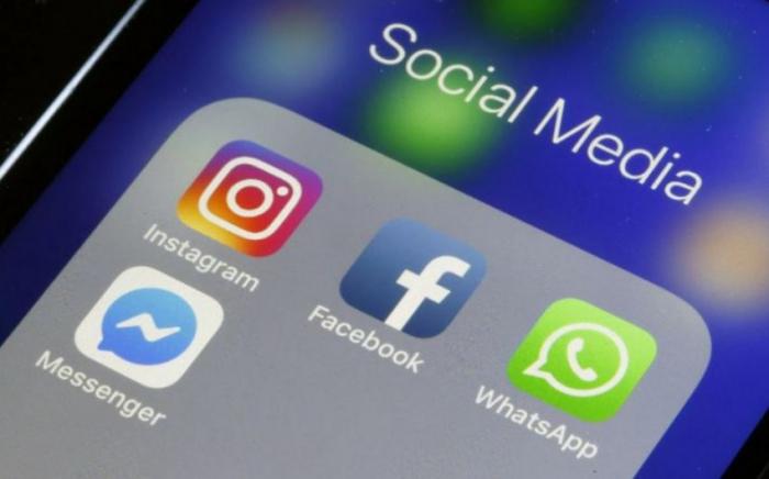 """""""Facebook"""", """"WhatsApp"""" və """"Instagram""""ın fəaliyyəti bərpa olunub"""