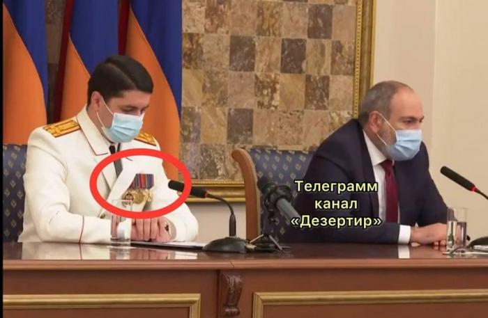 """Ermənistan İstintaq Komitəsinin sədri  """"medalları""""  ilə gündəm oldu"""