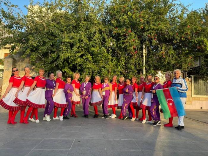 """El equipo de Azerbaiyán participó en el Festival de Gimnasia """"Edad de Oro"""""""