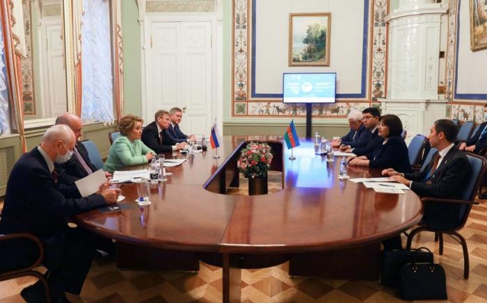 Sahibə Qafarova Valentina Matviyenko ilə görüşüb