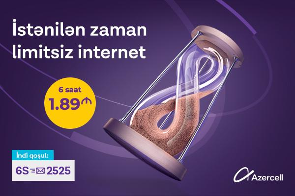 Azercell yüksəksürətli internet paketləri təklif edir