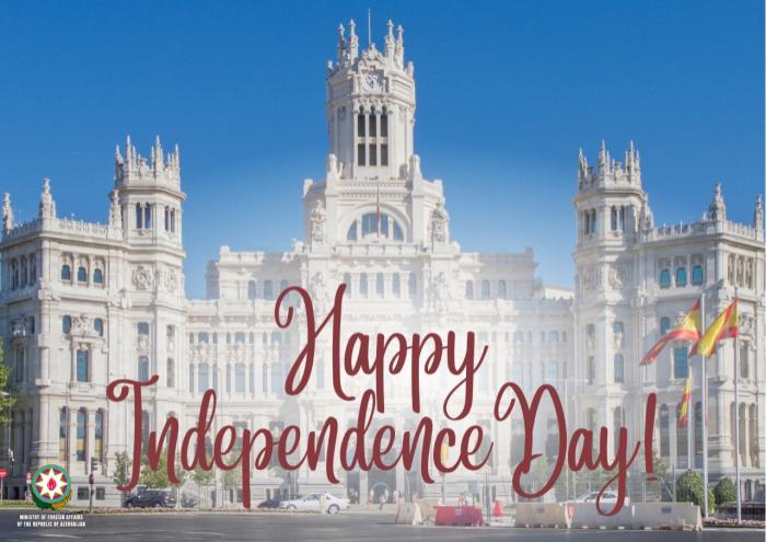 Azerbaijan MFA congratulates Spain on occasion of its national day