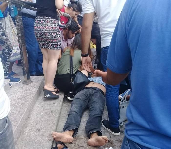 Bakıda metronun qarşısında ölüm - FOTO