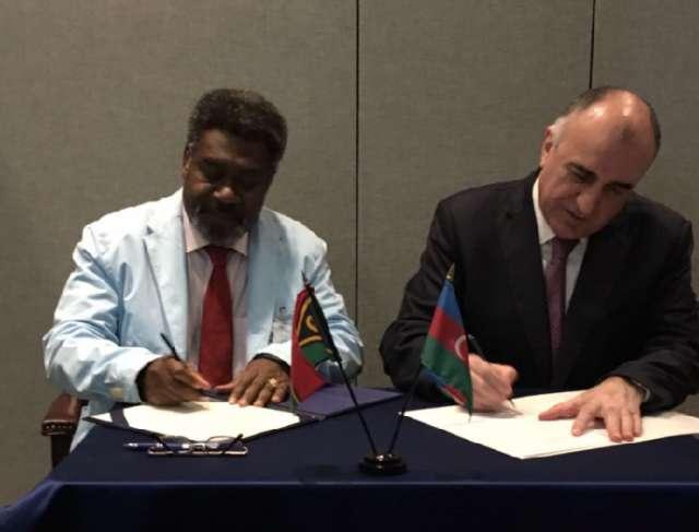 Vanuatu ilə diplomatik əlaqə yaradılıb
