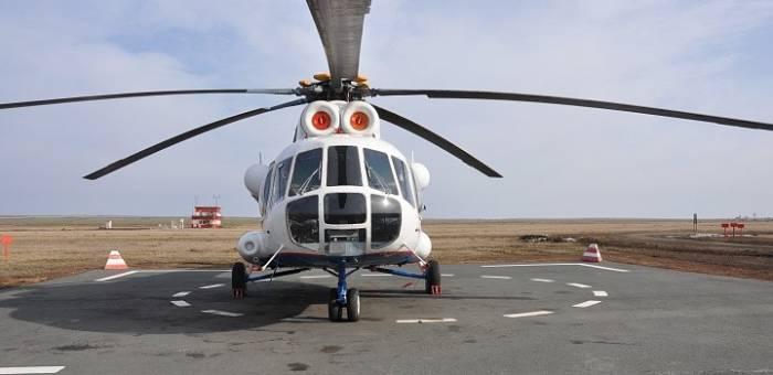"""""""Neft Daşları""""na gedən helikopter məcburi eniş etdi"""