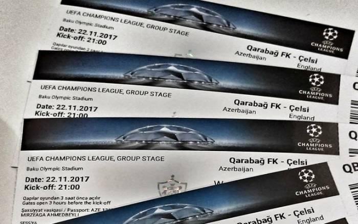 """""""Qarabağ"""" - """"Çelsi"""" oyununa 30 min bilet satılıb"""