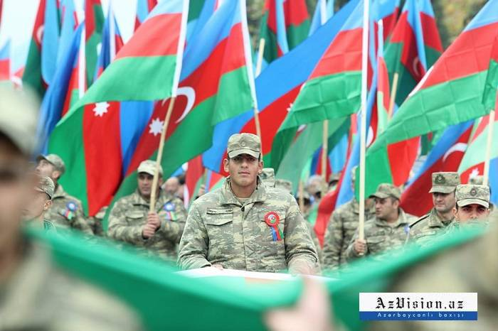 "Photos from ""Flag march"" in Azerbaijan"
