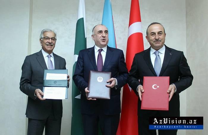 Üç nazirin görüşü: Bakı Bəyannaməsi imzalandı - Yenilənib (FOTOLAR)