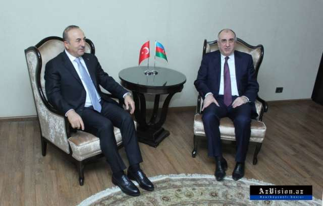 Azerbaijani, Turkish FMs meet in Baku - UPDATED