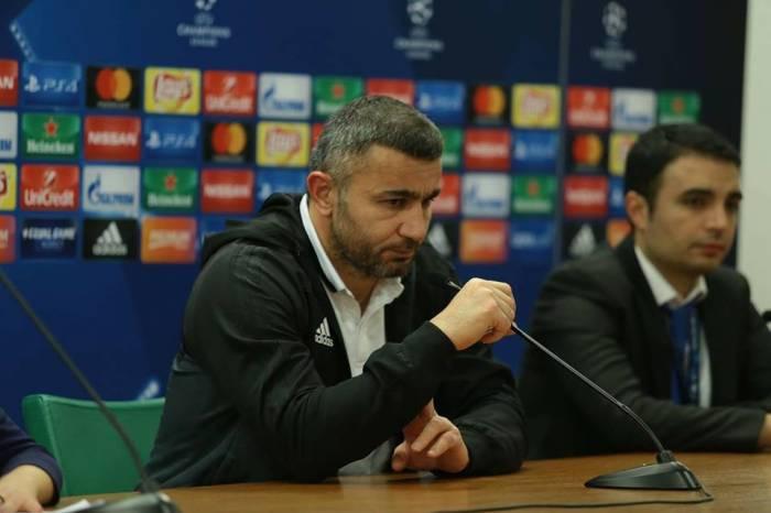 """""""Futbolçularım layiqli mübarizə apardılar"""" - Qurban Qurbanov"""