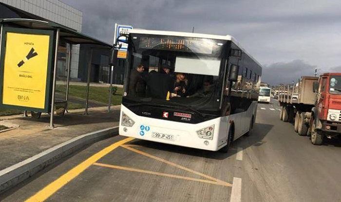 Bu marşruta yeni avtobuslar buraxıldı