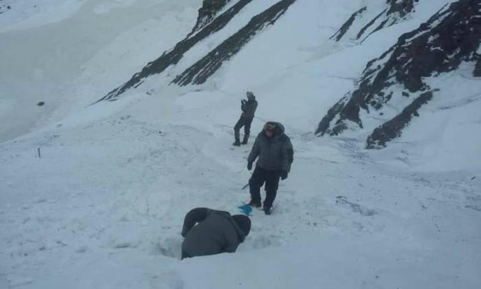 Alpinistlərin axtarışı ilə bağlı son vəziyyət - FOTOLAR