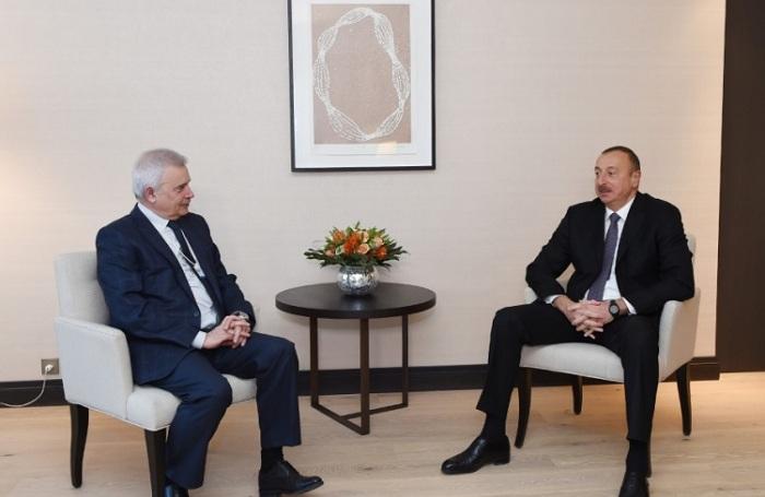 President Ilham Aliyev met with LUKOIL president