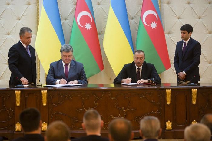 Azərbaycan və Ukrayna arasında sənədlər imzalandı - VİDEO