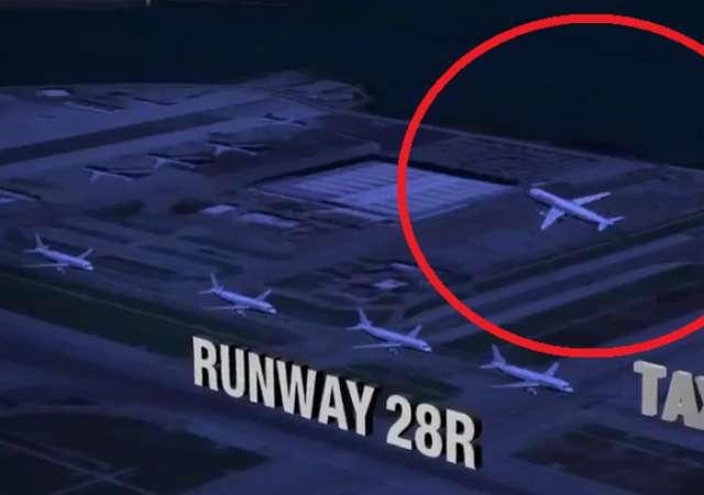 Katastrophen-Kollision von fünf Flugzeugen in San Francisco verhindert