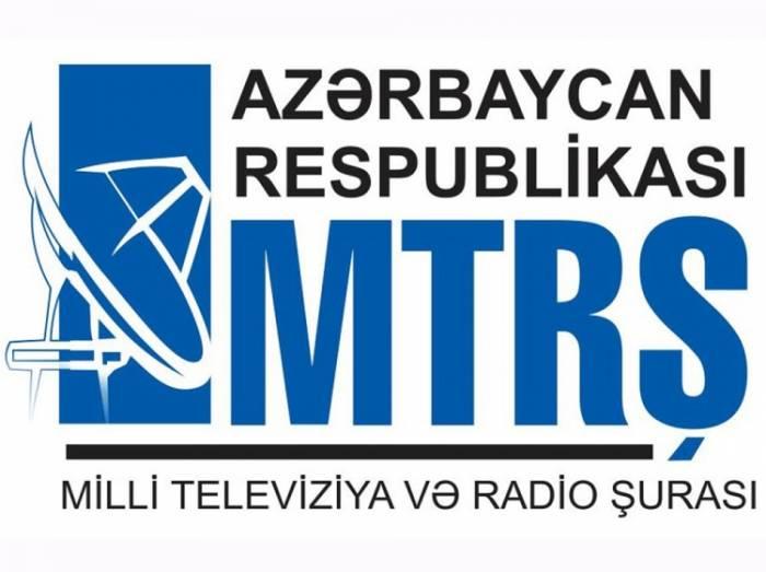 MTRŞ 11 quruma yayım lisenziyası verdi - SİYAHI
