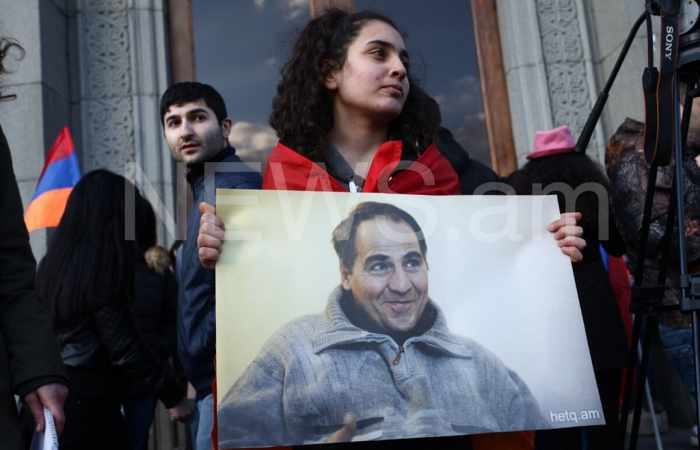 """Sit-in protest held in Yerevan's Liberty Square over """"Food Provider's death - PHOTOS"""