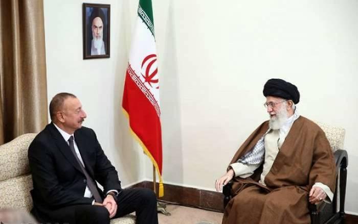 Azərbaycan prezidenti Xamenei ilə görüşüb