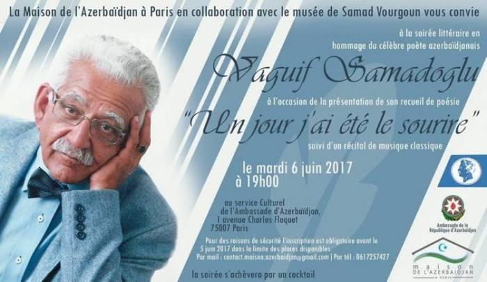 Une soirée littéraire en hommage de Vaguif Samadoglu à Paris