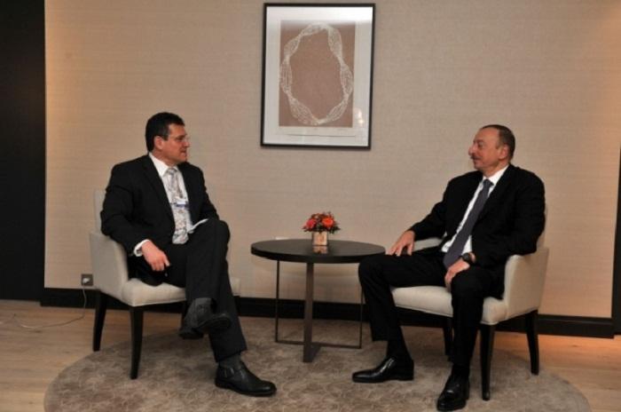 İlham Əliyev vitse-prezidentlə görüşdü