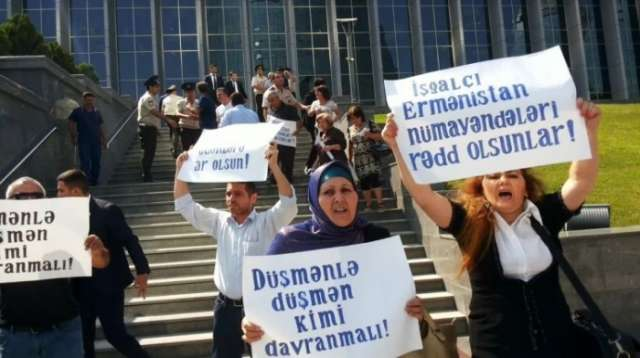 Karabakh Liberation Organization stages rally to protest Armenian MPs' visit to Baku