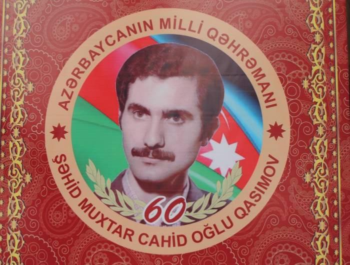 Milli Qəhrəman Muxtar Qasımovun xatirəsi anılıb