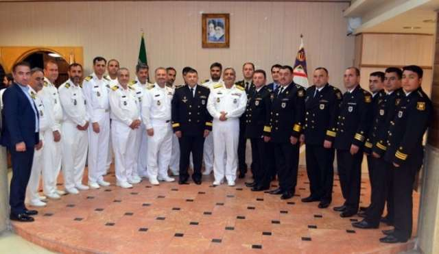 Azerbaijani Navy sailors start visit to Iran