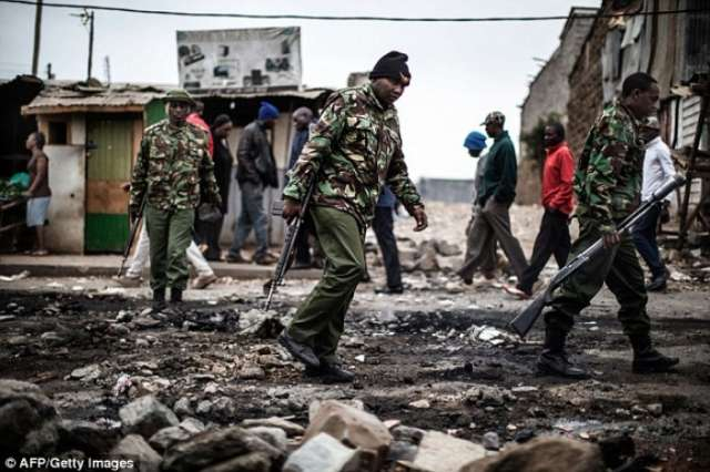 At least two people are shot dead in violent protests against the Kenyan President's 'rigged' re-election