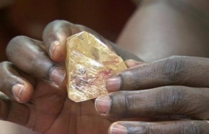 Un diamant exceptionnel en Sierra Leone