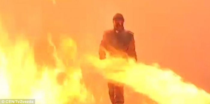 Russia creates 'Superman suit' means soldiers walk fire - VIDEO