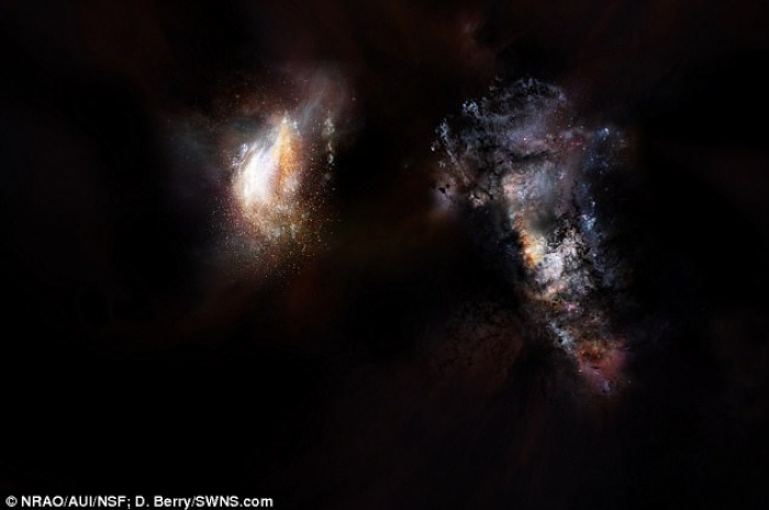 Scientists discover two huge galaxies on the edge of space