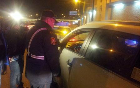 Polis maşını cərimə meydançasına salındı