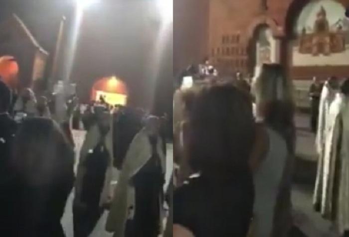 ABŞ-da erməni katolikosa qarşı etiraz aksiyası keçirilib - VİDEO