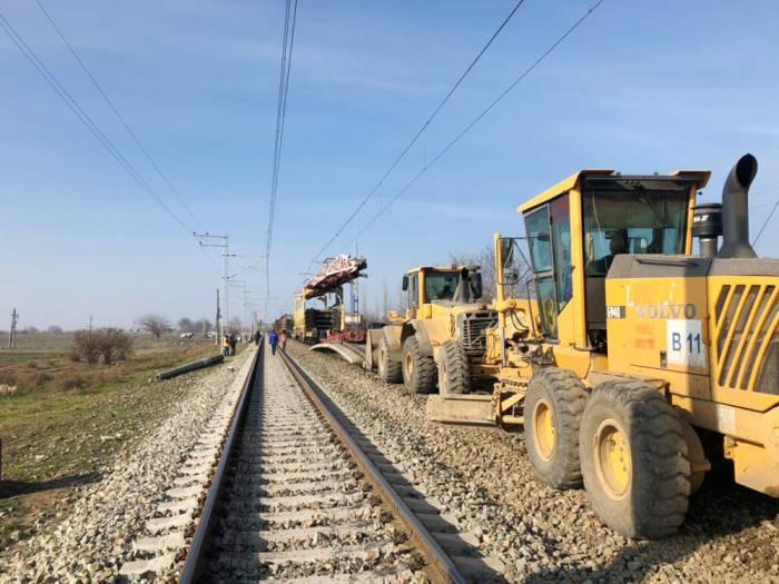 Tovuz-Qovlar dəmir yolu xətti təmir olunur