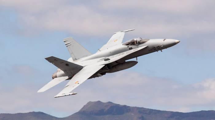 F-18 Kampfjet in Spanien abgestürzt