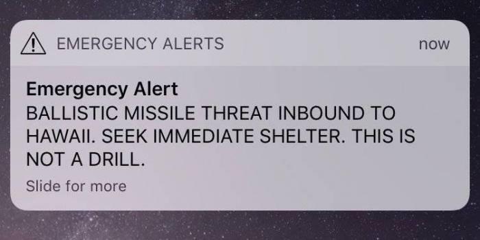 Fausse alerte à Hawaï sur l'arrivée d'un missile balistique