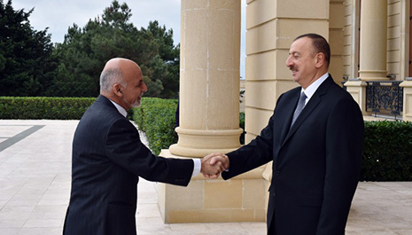 President Ilham Aliyev meets with Afghan counterpart - PHOTOS