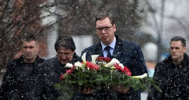 Serbian president Vucic visits Kosovo after leading politician killed