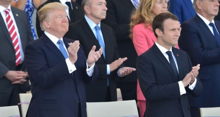 Macron and Trump 'Get Lucky' in Paris - NO COMMENT