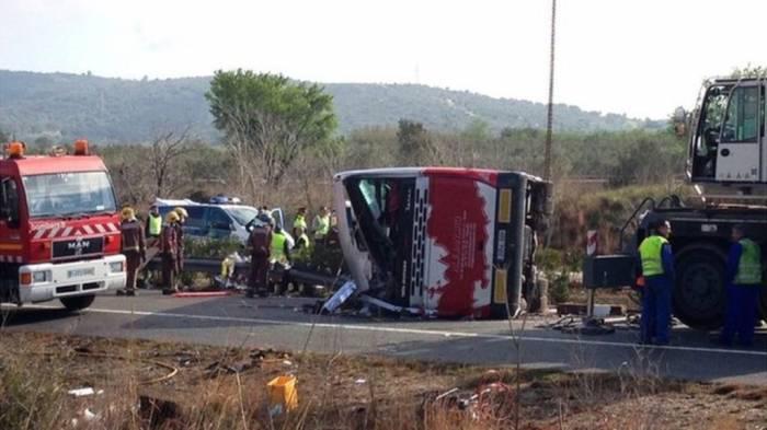 Sərnişin avtobusu aşıb, 9 nəfər ölüb