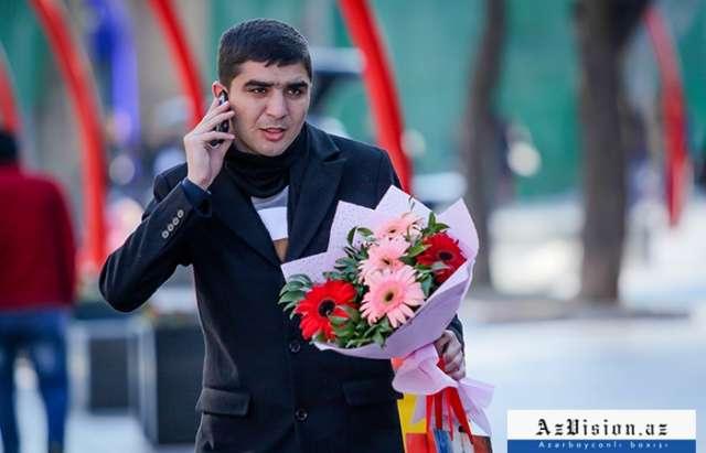 Bakının 8 Mart mənzərəsi - FOTOSESSİYA