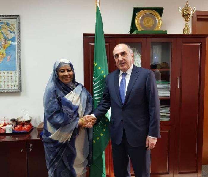 Məmmədyarov Afrika İttifaqının komissarı ilə görüşüb