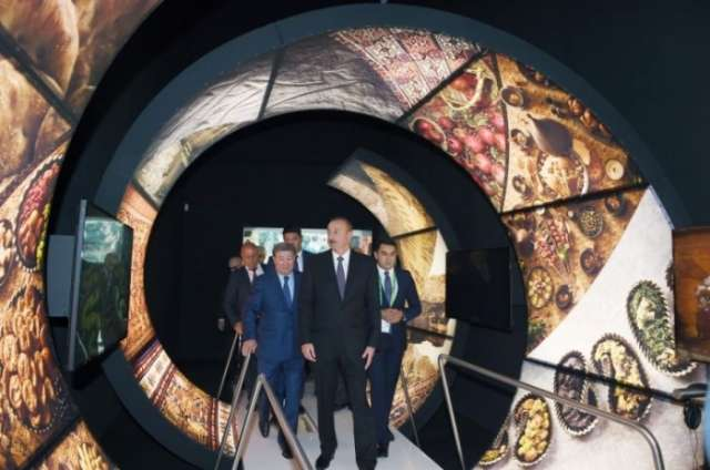 President Ilham Aliyev reviews pavilions at Astana EXPO-2017 exhibition