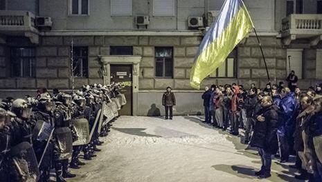 Kiyevdə üsyan başladı - VİDEO