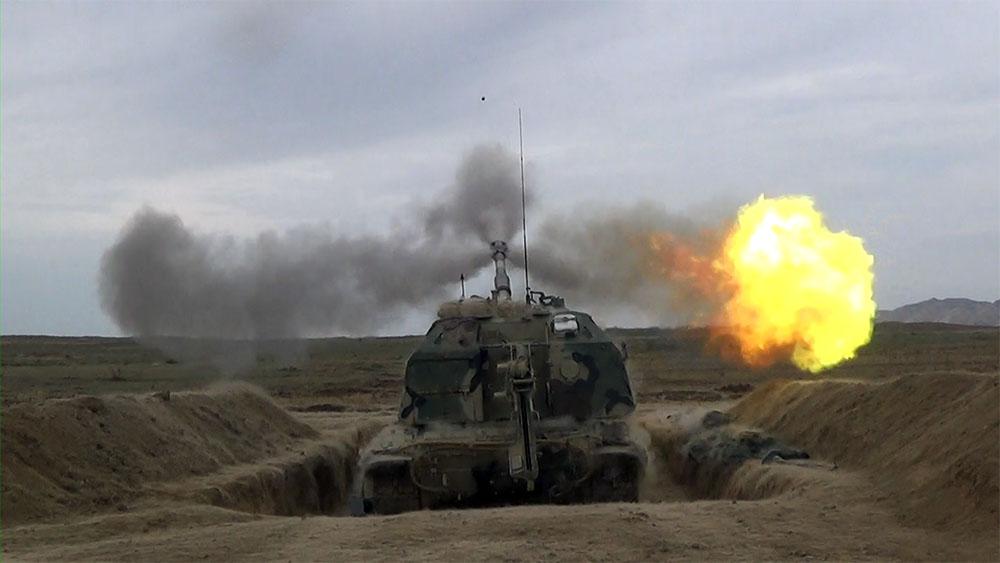 Tank və artilleriyamız atəş açdı - Fotolar