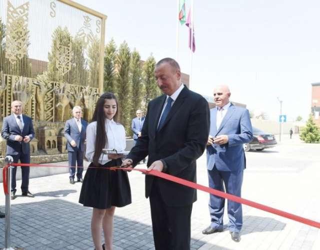 President Ilham Aliyev attends several openings in Shamkir - PHOTOS