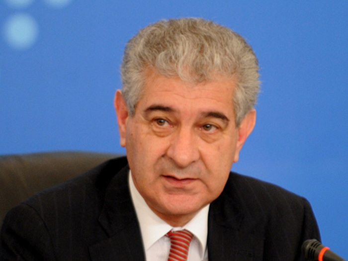 Azerbaijan's Deputy PM Ali Ahmadov votes in municipal elections
