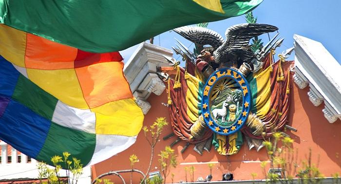 Escudo de Bolivia en el Palacio de GobiernoRusia  la causa de la era progresista