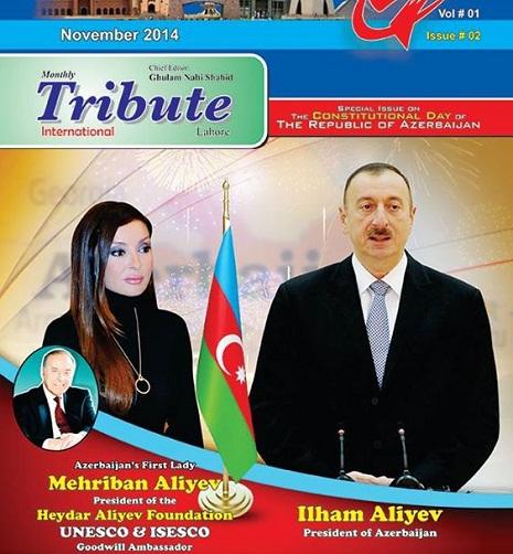 """Tribute ?nternational"" newspaper of Pakistan - special edition on Azerbaijan"
